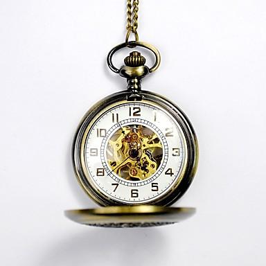 levne Dámské-Pro páry Hodinky s lebkou Kapesní hodinky Automatické natahování Zlatá S dutým gravírováním Hodinky na běžné nošení Czaszka Analogové Czaszka Módní - Zlatá