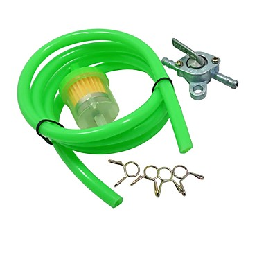 cheap Fuel Systems-1M Dirt Pit Bike ATV Mini Motocross Fuel Hose Tube Inline Fuel Gas Filter Fuel Tank Switch Petcock