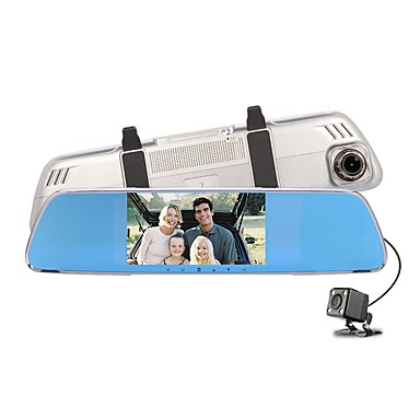 billige Bil-DVR-Factory OEM 720p HD / Nattsyn Bil DVR 140 grader Bred vinkel 12 MP 4.3 tommers IPS Dash Cam med Loop-opptak / Loop-cycle Recording Nei Bilopptaker