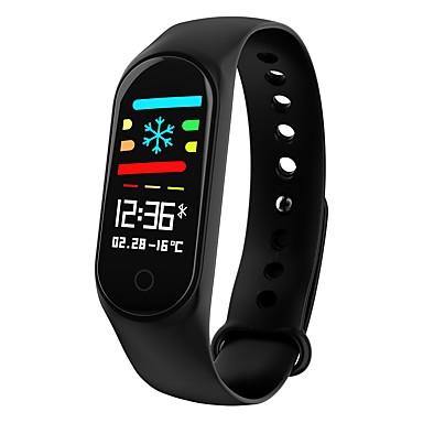 Smart Braslè Smartwatch YY-CPM3 pou android iOS Bluetooth enpèrmeabl kè To Presyon ki monitè kè bebe san Mezi manyen ekran Kalori Boule podomètr Rele Rapèl Dòmi Tracker Tracker aktivite