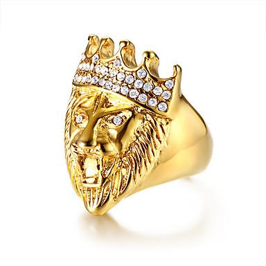 voordelige Herensieraden-Heren Statement Ring Hars 1pc Goud Roestvast staal Artistiek modieus Hip-hop Lahja Ceremonie Sieraden Stijlvol Cool