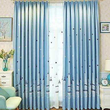 [$43.19] Modern Kindervorhänge zwei Panele Vorhang / Verdunkelung /  Schlafzimmer