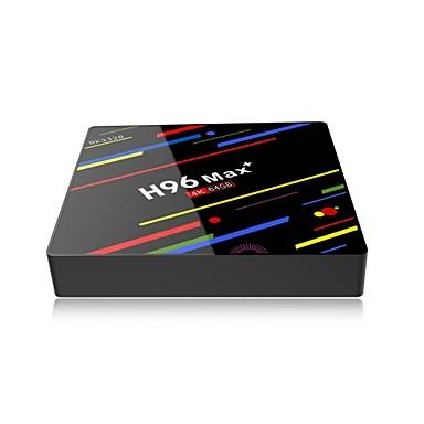cheap TV Boxes-H96 MAX Plus TV BOX Android 9.0 4GB RAM 32GB 64GB ROM Rockchip Set Top Box 5G Wifi 4K smart Media Player pro PK X96 RK3318 HK1