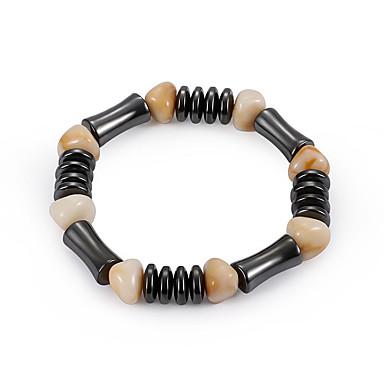 voordelige Dames Sieraden-Dames Edelsteen Natuurlijk Zwart Kralenarmband Armband Stijlvol Creatief Dames Natuur Casual / Sporty Modieus Hars Armband sieraden Zwart Voor Verjaardag Dagelijks