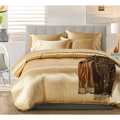 cheap Duvet Covers-Bedding Sets Duvet Cover Sets King/ Queen/ Double/ Full Size with Zipper Closure Luxury Silky Ultra Soft Hypoallergenic Comforter Cover Sets 3 Pieces Include 1 Duvet Cover& 2 Pillow Shams (Size Single