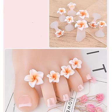 levne Náčiní a vybavení-8ks Silikon Nástroje na nehty Pro toe Módní design Romantika nail art manikúra pedikúra Květina Denní nošení