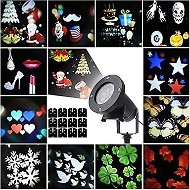 preiswerte Außenbeleuchtung-kwb 12pcs Halloween-Weihnachtsrasen beleuchtet wasserdichte / kreative / Projektorlichtmultifarbe 100-240 v im Freienbeleuchtung 12 geführte Korne
