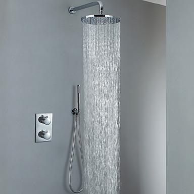 Chrome Bathroom Shower Faucet Set Air Water Saving Rain Shower - Water-saving-set-for-the-bathroom