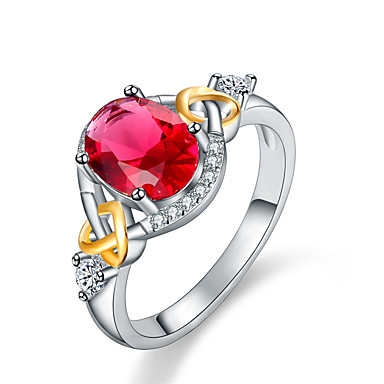 ed86a8668a9b Pareja Cristal Zirconia Cúbica Elegante simulado Alianzas Anillo de  compromiso Legierung Corazón damas Dulce Moda Elegante Anillos de Moda Joyas  Rojo ...