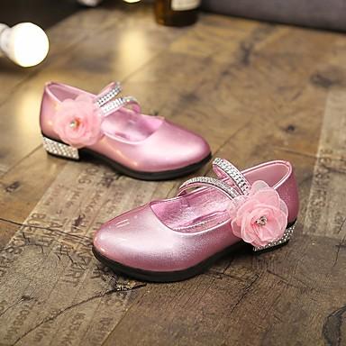 6f8752b13b9 Flickor Skor PU Vår & Höst / Vår Ballerina / Brudnäbbsskor Platta Promenad  Paljett / Blomma för Barn / Tonåring Svart / Gul / Röd 6892004 2019 – $26.99