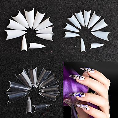 levne Náčiní a vybavení-500ks False Nails Pro Nehet na ruce kreativita / Více designů nail art manikúra pedikúra Jednoduchý / Geometrický vzor / retro Párty / Denní nošení