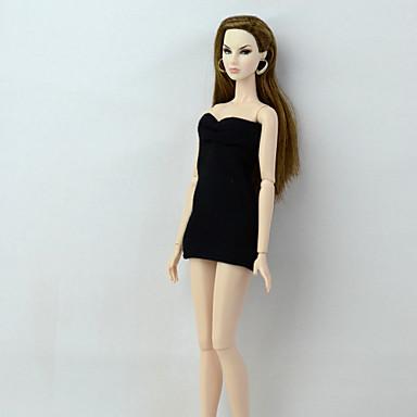 levne Doplňky pro panenky-Šaty pro panenky Šaty Pro Barbie Módní Černá Elastický satén Krajka Bavlněné tkaniny Šaty Pro Dívka je Doll Toy