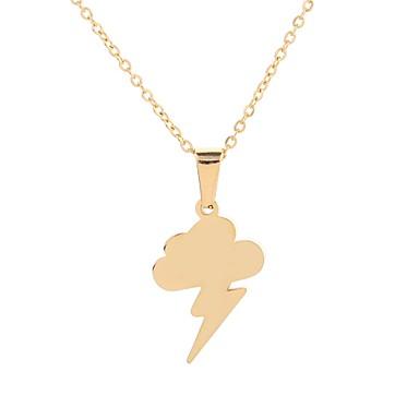 povoljno Modne ogrlice-Žene Ogrlice s privjeskom neprilagođeno Chandelier oblaci dame Jednostavan Boho Mariner Titanium Steel Zlato Pink 50 cm Ogrlice Jewelry 1pc Za Škola Vježbanje