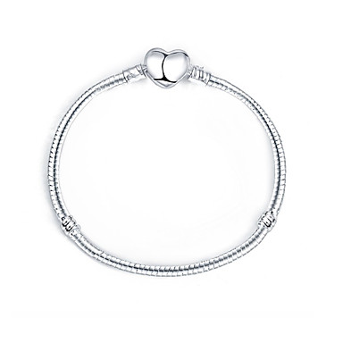 Women S Stylish Snake Silver Bracelets Heart Simple Elegant Bracelet For Daily Date 6856842 2018 9 99