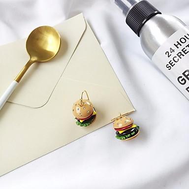povoljno Modne naušnice-Žene Kubični Zirconia Viseće naušnice Sa stilom Hamburger dame Jedinstven dizajn Moda Slatka Style Umjetno drago kamenje S925 Sterling Silver Naušnice Jewelry Bijela Za Dar Spoj 1 par