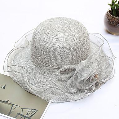 povoljno Party pokrivala za glavu-Organza / Slama kape s Cvijet 1pc Vjenčanje / Zabava / večer Glava