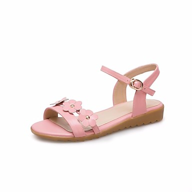 Girls Shoes Cowhide Summer Comfort Flower Girl Shoes Sandals For