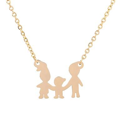 levne Dámské šperky-Dámské Charm náhrdelník Stylové Animák Dovolená Sladký Titanová ocel Zlatá Stříbrná 50 cm Náhrdelníky Šperky 1ks Pro Dovolená Festival