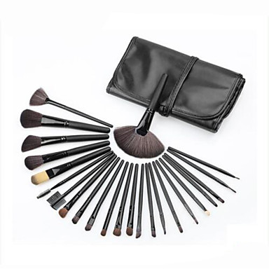 cheap Makeup Brush Sets-Professional Makeup Brushes Make Up 24pcs Full Coverage Wooden / Bamboo for