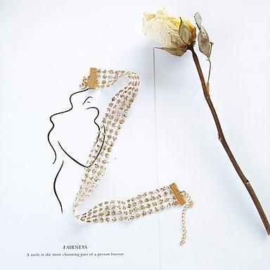 povoljno Modne ogrlice-Žene Choker oglice Sa stilom pletena Cvijet dame Stilski slatko Elegantno Čipka Legura Zlato Pink 40 cm Ogrlice Jewelry 1pc Za Spoj Rad