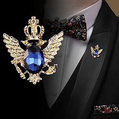 povoljno Značke i broševi-Muškarci Kubični Zirconia Broševi Retro Sa stilom Moda Elegantno Uglađeni Broš Jewelry Crn Plava Za Vjenčanje Praznik