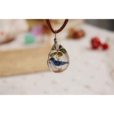 povoljno Modne ogrlice-Žene Ogrlice s privjeskom Vintage Style Ptica dame Jednostavan slatko Smola Legura Braon 55 cm Ogrlice Jewelry 1pc Za Dar Izlasci