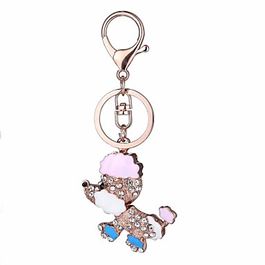 cheap Keychains-Keychain Dog Cartoon Sweet Ring Jewelry Fuchsia / Pink / Light Blue For Daily School