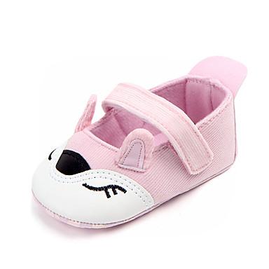 1e681b2cb Para Meninas Sapatos Algodão Verão Primeiros Passos Rasos Velcro para Bebê  Preto   Roxo   Rosa claro   Estampa Colorida de 6860646 2019 por  10.99