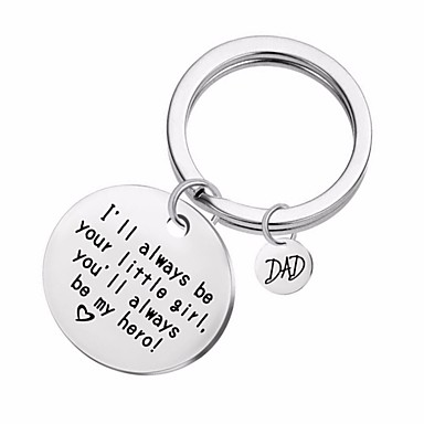 cheap Keychains-Keychain Alphabet Shape Heart Classic Fashion Ring Jewelry Silver For Daily Date