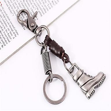 levne Dámské šperky-Klíčenka Vysoký podpatek Vintage Módní Fashion Ring Šperky Stříbrná Pro Denní Rande