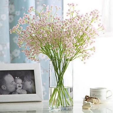 povoljno Umjetno cvijeće & Vases-Umjetna Cvijeće 1 Podružnica Klasični Za jednu osobu Stilski Pastoral Style Hortenzije Dječji dah Cvjeće za stol