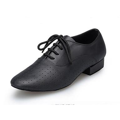dc19148b2b Hombre Zapatos de Baile Moderno Cuero de Napa Oxford A lunares Tacón Cubano  Personalizables Zapatos de baile Negro   Entrenamiento   Rendimiento  6898473 ...