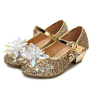5d9fd476c83 Girls  Shoes Synthetics Spring   Fall Flower Girl Shoes   Tiny Heels for Teens  Heels for Gold   Silver   Pink 6877878 2019 –  22.99