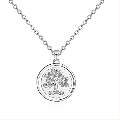 c10924f17b3 Women s Stylish Pendant Necklace Rhinestone Letter life Tree Ladies Simple  European Fashion Silver 80 cm Necklace Jewelry 1pc For Causal 6874204 2019  – ...