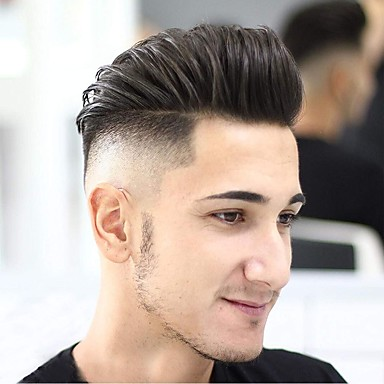 cheap Toupees-Men's Human Hair Toupees Wavy 100% Hand Tied Soft