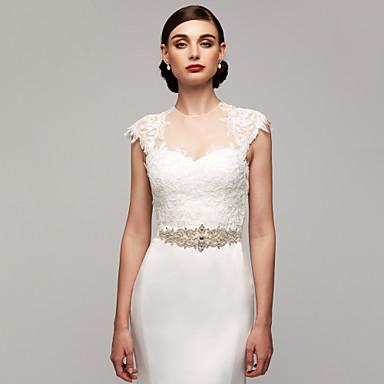 cheap Party Sashes-Satin Wedding / Party / Evening / Dailywear Sash With Rhinestone / Imitation Pearl / Beading Women's Sashes