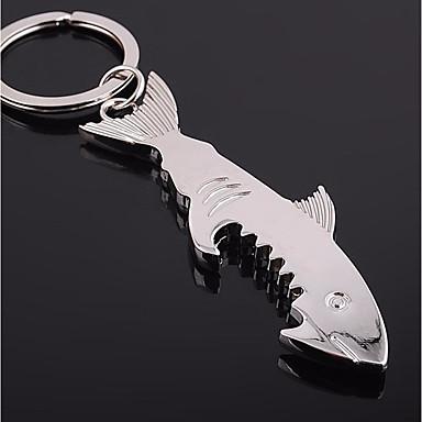 levne Dámské šperky-Klíčenka Ryby Jednoduchý Módní Fashion Ring Šperky Stříbrná Pro Denní Street