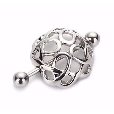levne Dámské šperky-Dámské Tělové ozdoby 1.2 cm Piercing do bradavek Stříbrná Geometric Shape Jednoduchý Nerezové Kostýmní šperky Pro Karneval / Miláček Letní