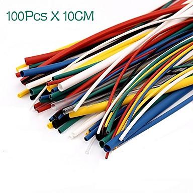 voordelige Elektrische apparatuur & benodigdheden-100 stks krimpkous tube sleeving wrap draad kabel kit
