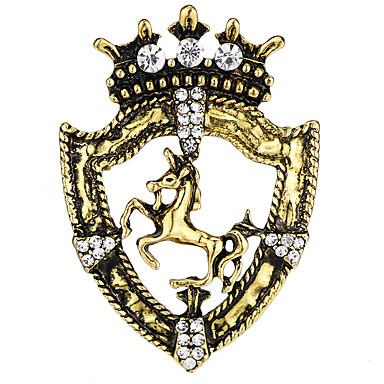 Muškarci Kubični Zirconia Broševi Vintage Style Sa stilom Konj Kreativan Vintage Moda Drevni Rim Broš Jewelry Zlato Pink Za Party Dnevno
