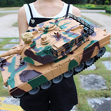 cheap RC Tanks-356 Tank 1:18 RC Car 2 km/h 2.4G Ready-to-go Remote Control Car / 1 x Remote Control Simulation / Parent-Child Interaction