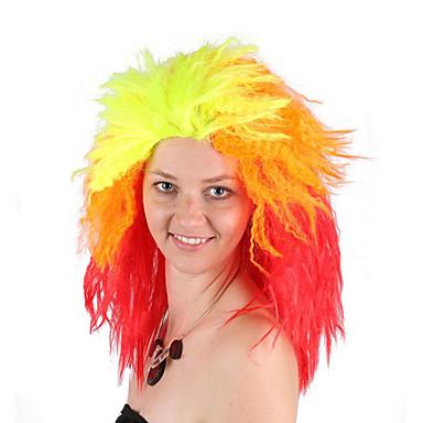 billige Kostymeparykk-Syntetiske parykker Kostymeparykker Rett Stil Bobfrisyre Parykk Blond Kort Oransje Syntetisk hår 14 tommers Dame Cosplay Fest Hot Salg Blond Parykk
