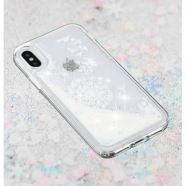 povoljno iPhone maske-Θήκη Za Apple iPhone X / iPhone 8 Plus / iPhone 8 S tekućinom / Prozirno / Uzorak Stražnja maska Maslačak / Cvijet Mekano TPU
