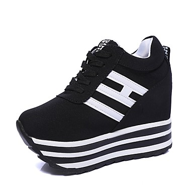 svarta sneakers med kilklack
