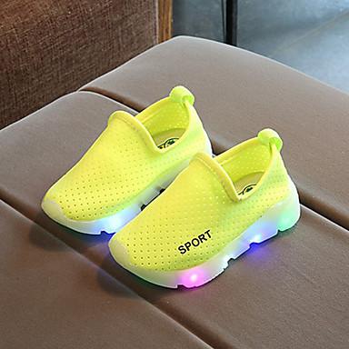 levne Dětské botičky-Chlapecké / Dívčí Pohodlné / Svítící boty Síťka Tenisky LED Červená / Zelená / Růžová Jaro & podzim