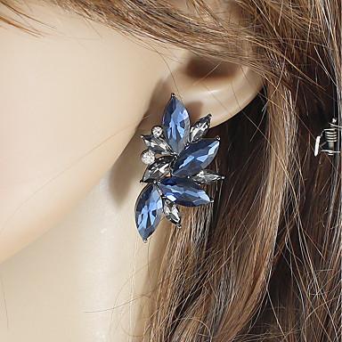 povoljno Modne naušnice-Žene Sapphire Sitne naušnice Sa stilom Sretan dame Osnovni Moda Naušnice Jewelry Obala / Plava / Pink Za Dnevno Spoj 1 par