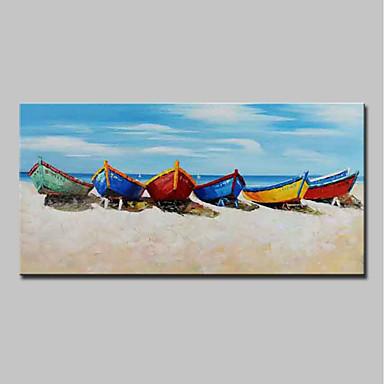 povoljno Ulja na platnu-Hang oslikana uljanim bojama Ručno oslikana - Pejzaž Mrtva priroda Moderna Uključi Unutarnji okvir / Prošireni platno