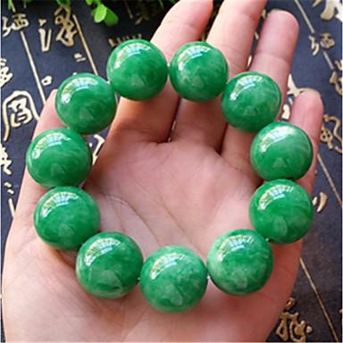 levne Pánské šperky-Pánské Nefritově zelená Korálkový náramek Klasika Boncuklar Koule Asijský styl Luxus Klasické Kámen Náramek šperky Zelená Pro Karneval Street