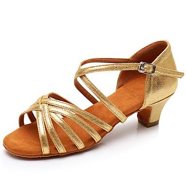 Női Latin cipők Lakkbőr Szandál   Magassarkúk Csat Vastag sarok Személyre  szabható Dance Shoes Arany 6878778 2019 –  19.99 5ee20f3bad