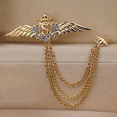 Muškarci Kubični Zirconia Broševi Sa stilom Poveznica / lanac Moda Elegantno Uglađeni Broš Jewelry Zlato Pink Za Dnevno Praznik